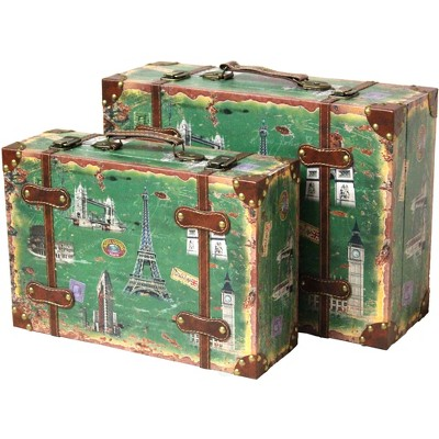 Vintiquewise Vintage Style European Luggage Suitcase, Set of 2