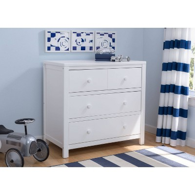 Delta Children 3 Drawer Dresser - Bianca White