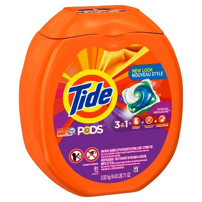 Tide Pods Spring Meadow Liquid Laundry Detergent, 81 ct 71floz