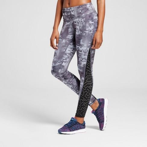 e9710e1636f8cf Women's Embrace Laser Cut Leggings - C9 Champion® Black/Gray Glitch Print M  : Target