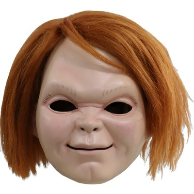 Trick Or Treat Studios Childs Play Curse of Chucky Chucky Plastic Adult Costume Mask with Hair