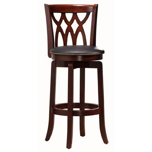 Cathedral Swivel Counter Stool Hardwood Light Cherry