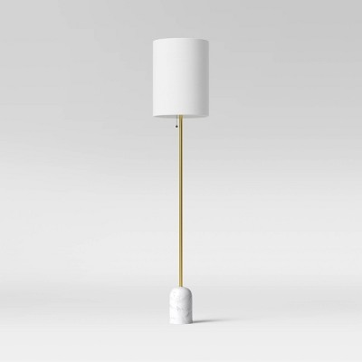 Marble Base Floor Lamp (Includes LED Light Bulb) White - Project 62™