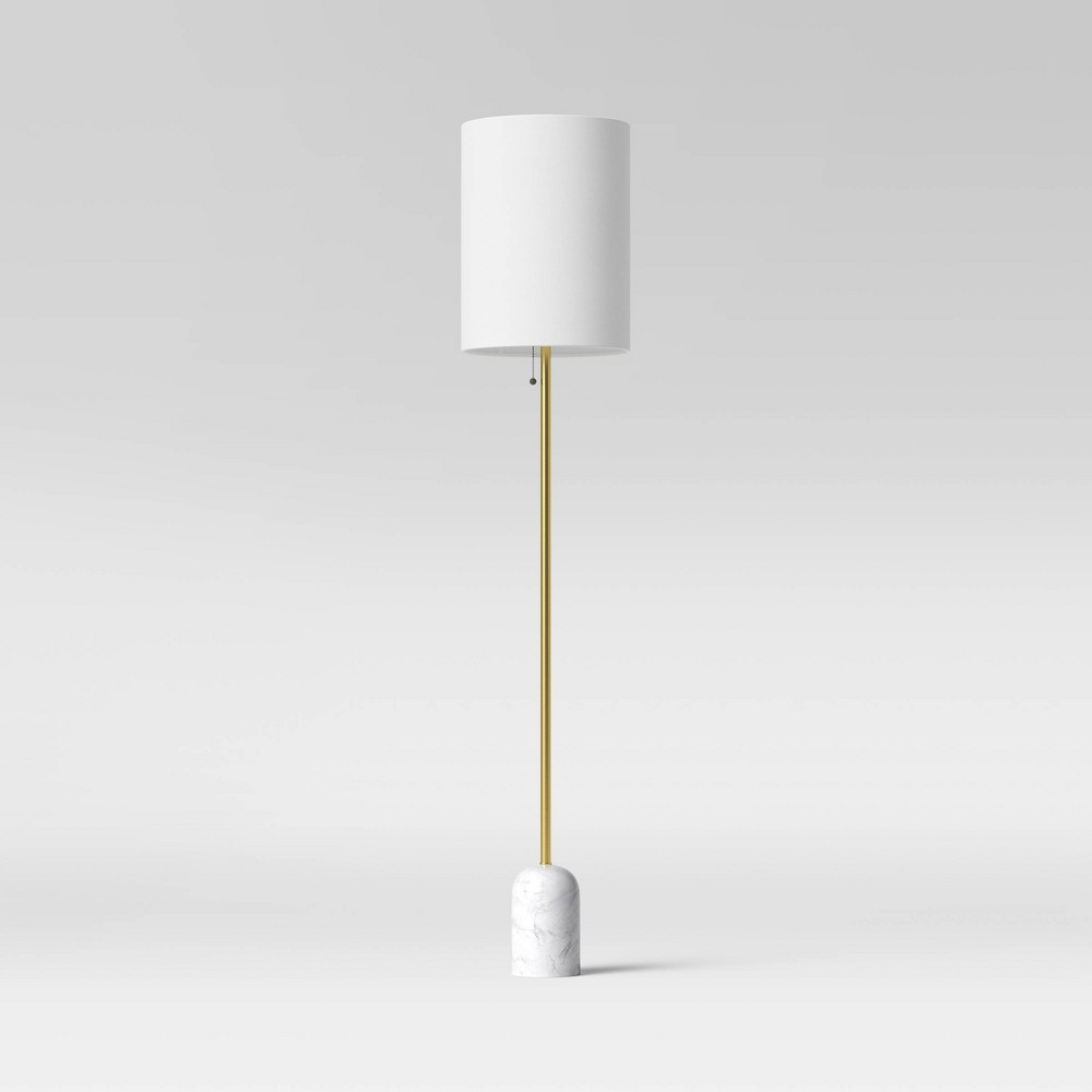 Marble Base Floor Lamp Includes Led Light Bulb White Project 62 8482