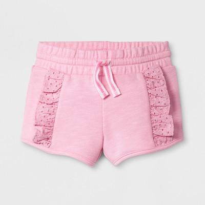 Toddler Girls' Cargo Shorts - Cat & Jack™ - Light Pink 12M
