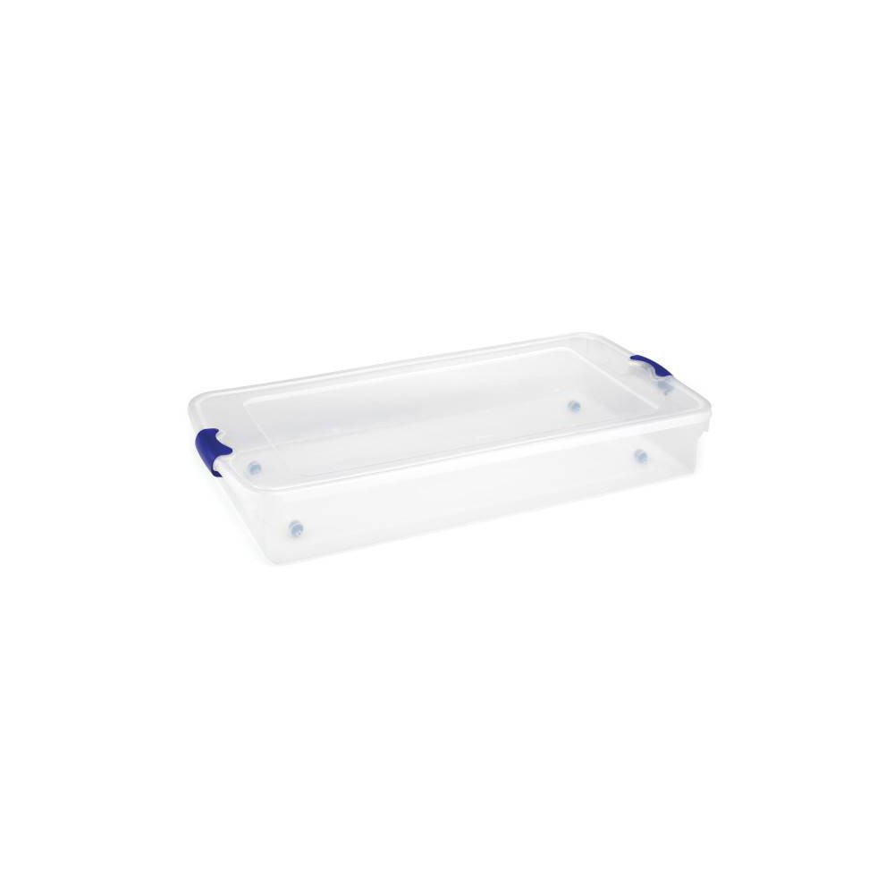 Image of 2pk 60qt Under-Bed Modular Latching Clear Storage - Homz, Clear Blue