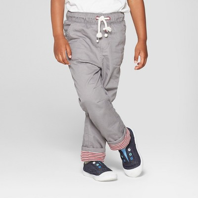 Toddler Boys' Tapered Fit Lined Pull-On Pants - Cat & Jack™ Gray