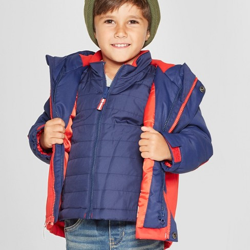 48748a4c8c39 Toddler Boys  Colorblock 3-in-1 Jacket - Cat   Jack™ Red   Target