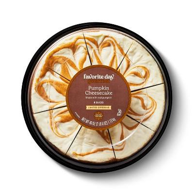 "Pumpkin Swirl Cheesecake - 8"" - 40oz - Favorite Day™"