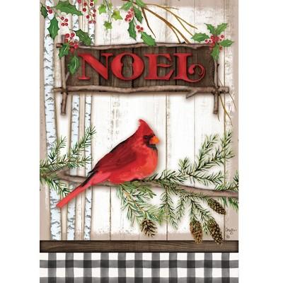 """Home & Garden 18.0"""" Cardinal Noel Flag Double Sided Custom Decor  -  Flags"""