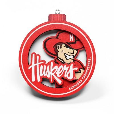 NCAA Nebraska Cornhuskers 3D Logo Ornament