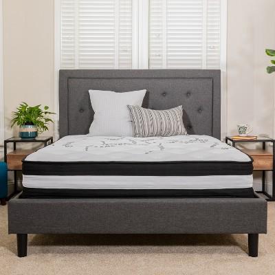 Flash Furniture Capri Comfortable Sleep 12 Inch CertiPUR-US Certified Foam and Pocket Spring Mattress, Mattress in a Box