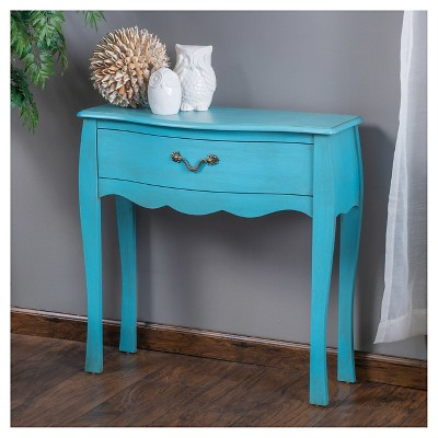 Rainier Console Table Blue   Christopher Knight Home : Target