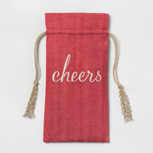 Woven Wine Bag Red - Threshold™ - image 1 of 1