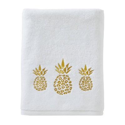 Gilded Pineapple Bath Towel White - SKL Home