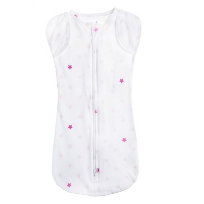 Aden by Aden + Anais Snug Swaddle - Primrose Pink Stars - White