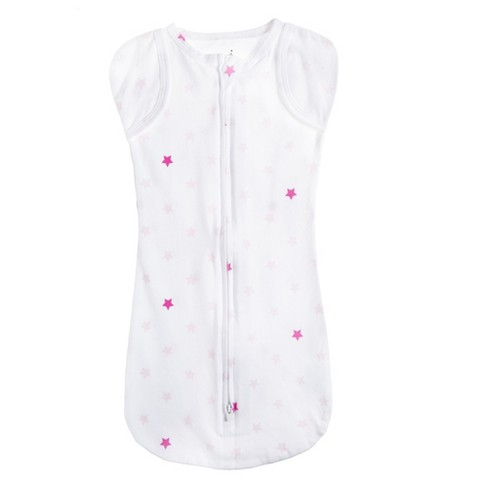 Aden by Aden + Anais Snug Swaddle - Primrose Pink Stars - White - image 1 of 2
