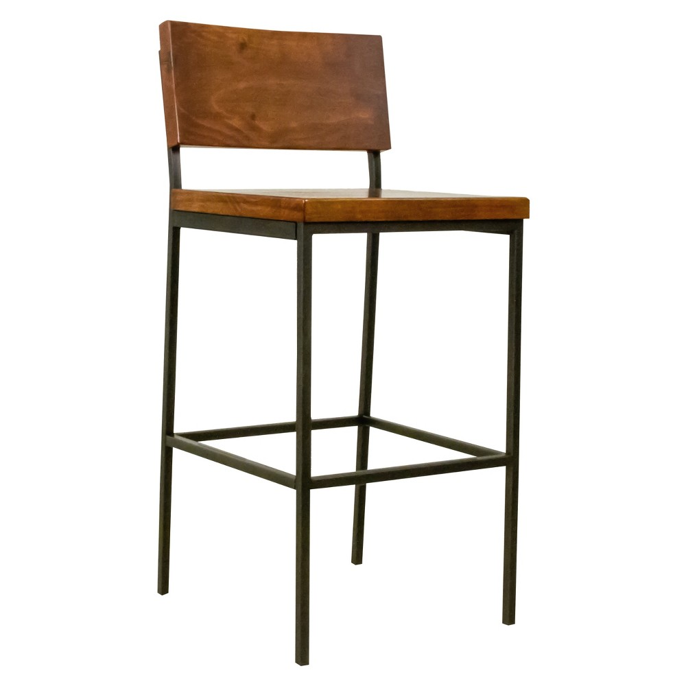 Sawyer Wood/Metal Bar Stool Java Pine - Progressive