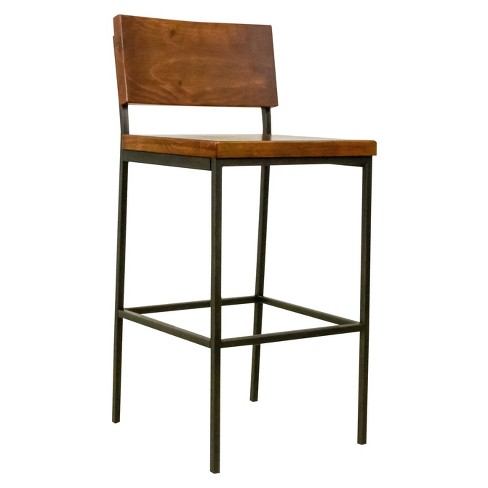 Sawyer Wood/Metal Bar Stool Java Pine - Progressive - image 1 of 1