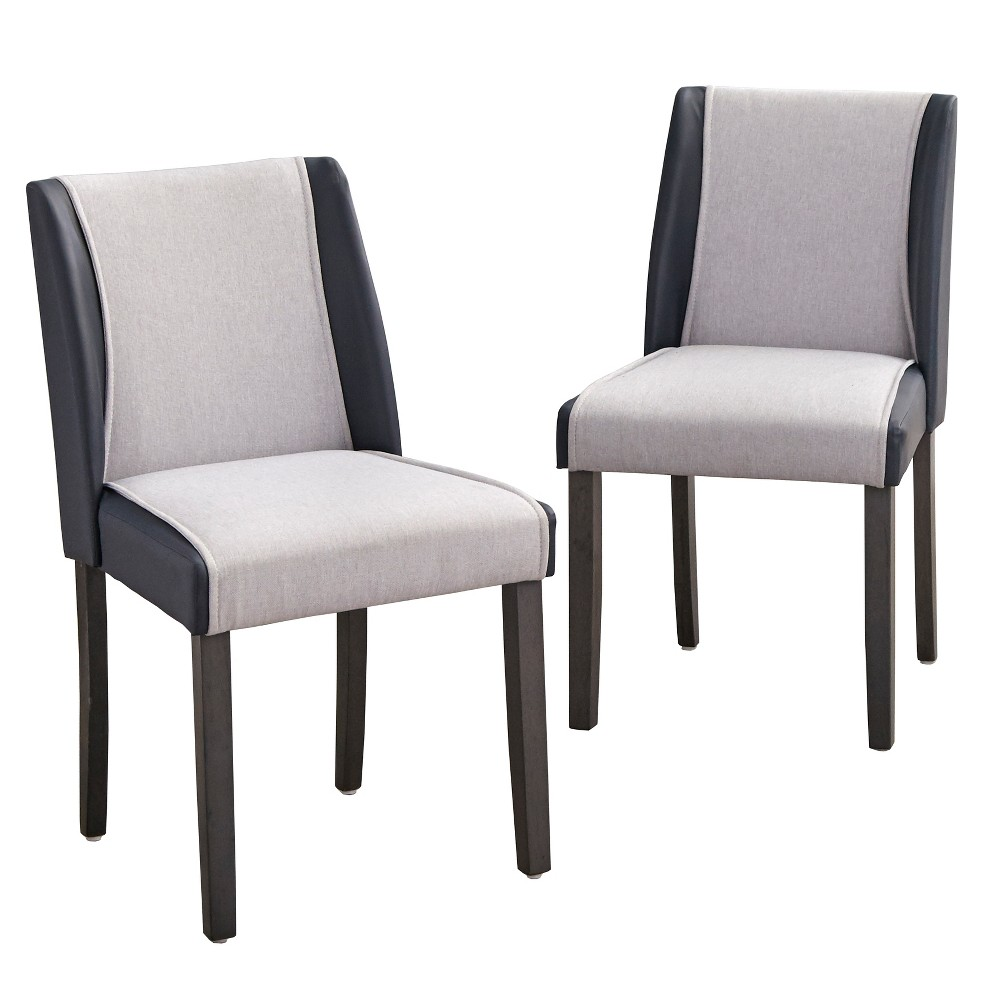 Image of Grayson Dining Chair Gray/Navy - angelo:Home