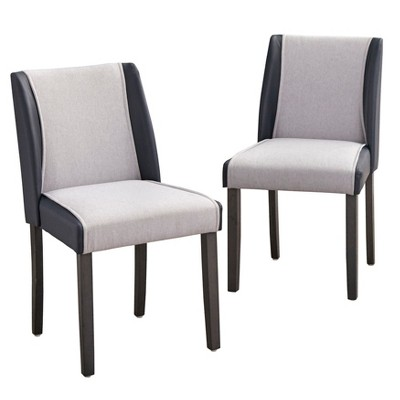 Attirant Grayson Dining Chair Gray/Navy   Angelo:Home