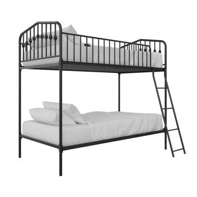 Twin/Twin Kids' Bushwick Metal Bunk Bed Black - Novogratz