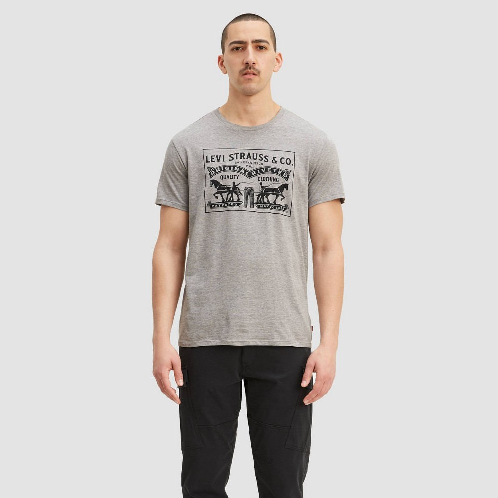 Levi's Men's Two Horse Pull T-Shirt - Gray M, Men's, Size: Medium was $17.99 now $12.59 (30.0% off)