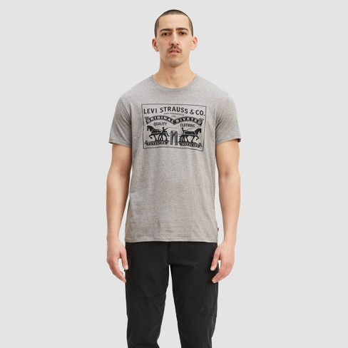 Levi's® Men's Two Horse Pull T-Shirt - Gray - image 1 of 2