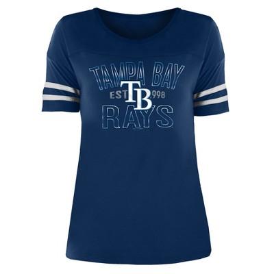 MLB Tampa Bay Rays Women's Dugout Poly Rayon T-Shirt