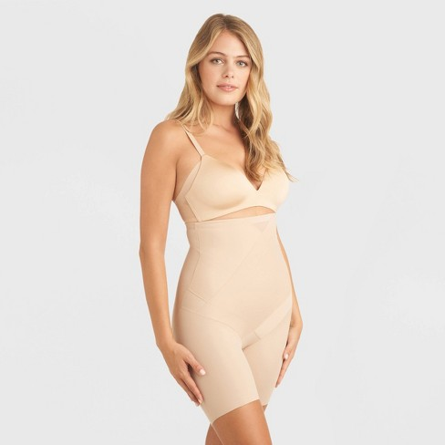 SlimShaper by Miracle Brands Women's High-Waisted Tummy Tuck Thigh Slimmer  - image 1 of 2
