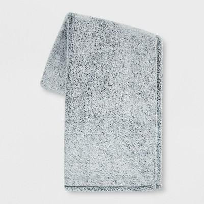 70 x50  Fuzzy Bottom Printed Throw Blanket Teal - Threshold™
