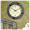 "14"" Outdoor / Indoor Wall Clock with Thermometer and Humidity - Faux Slate Finish - Acurite - image 2 of 3"