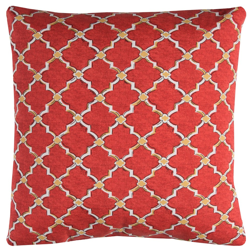 Image of Rizzy Home Eaton Throw Pillow Red