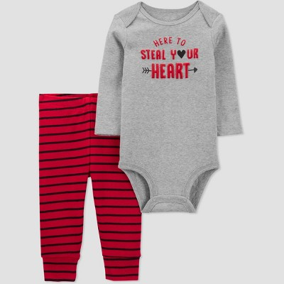Baby Boys' 2pc 'Steal Your Heart' Valentine's Day Top and Bottom Set - Just One You® made by carter's Red 3M