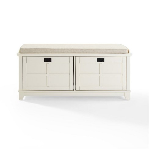 Wood Entryway Bench in White-Pemberly Row - image 1 of 4
