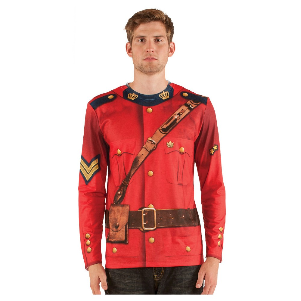 Men's Canadian Mountie Costume Shirt - Medium, Red