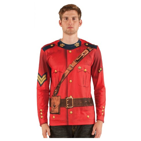 Men's Canadian Mountie Costume Shirt - image 1 of 1