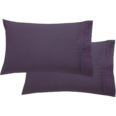 Elegant Comfort Luxury Ultra-Soft 2-Piece Pillowcase Set, 100% Hypoallergenic - Wrinkle Resistant, Standard Size.