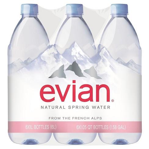 Evian® Natural Spring Water - 6pk / 1 L Bottles - image 1 of 1
