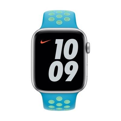 Apple Watch 44mm Nike Sport Band - Chlorine Blue/Green Glow