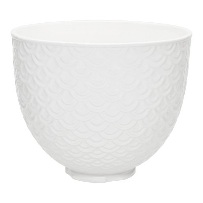 KitchenAid 5qt White Mermaid Lace Ceramic Bowl - White