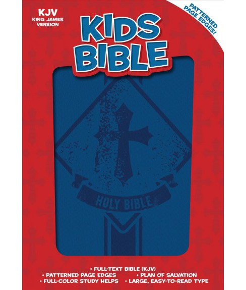 Holy Bible : King James Version, Kids Bible, Royal Blue Leathertouch (Paperback) - image 1 of 1