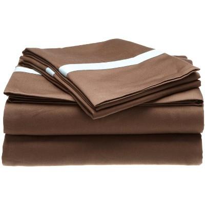 300-Thread Count Solid Cotton Deep Pocket Sheet Set - Blue Nile Mills