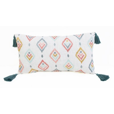 "12""x20"" Sophie Embroidered Faux Linen Pillow - Décor Therapy"
