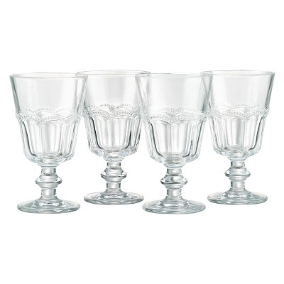 Artland®8oz Pearl Ridge Wine Glasses Set of 4