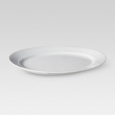 Oval Beaded Platter - Medium - Threshold™