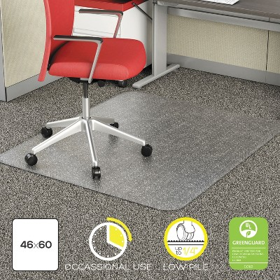 """3'10""""x5' Rectangle Solid Office Chair Mat Clear - Alera : Target"""