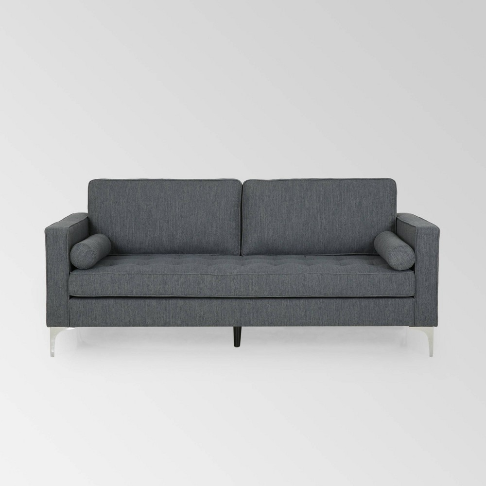 Image of Portwall Contemporary Tufted Sofa Charcoal - Christopher Knight Home