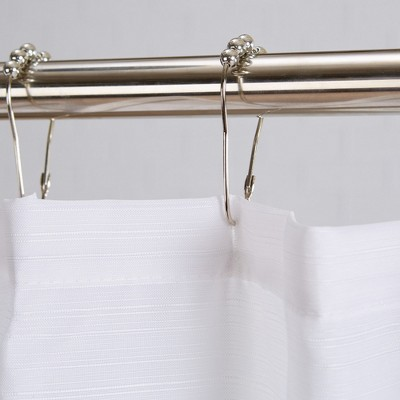 Great Bay Home Striped Shower Curtain With 12 Roller Hooks : Target