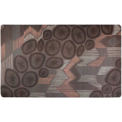 Drymate Dog and Cat Feeding Placemat - Abstract Lines Brown